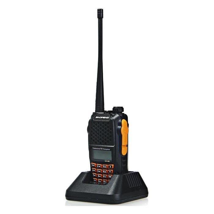 Foto Produk Taffware Walkie Talkie Dual Band Radio 5W 128 CH UHF+VHF - UV-6R dari ukitco
