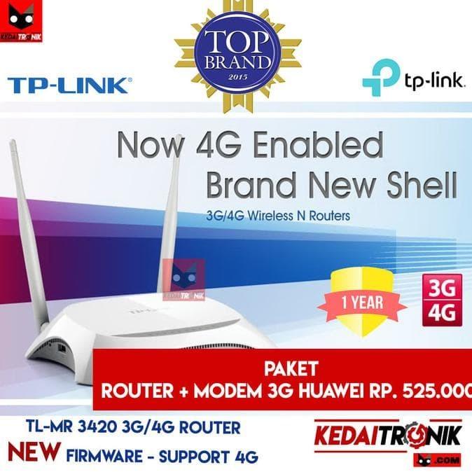 Jual Jual Paket Tp-Link Tl-Mr 3420 Router 4G/3G+Modem Huawei E-173 Tplink -  kios_frida   Tokopedia