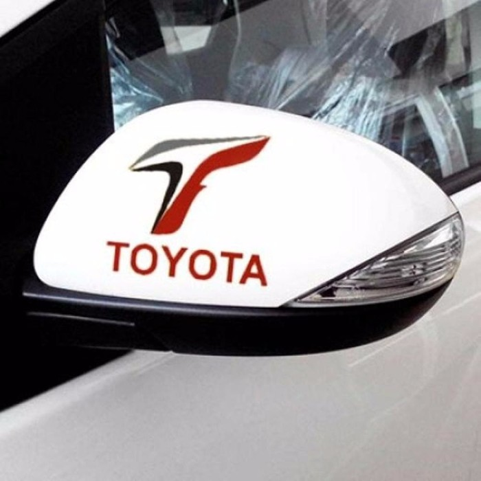 KA Sticker Spion Mobil Toyota Logo F1 2 pcs