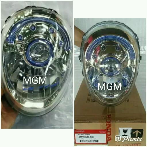 harga Reflektor / headlamp / lampu depan honda scoopy fi asli plus bohlam Tokopedia.com