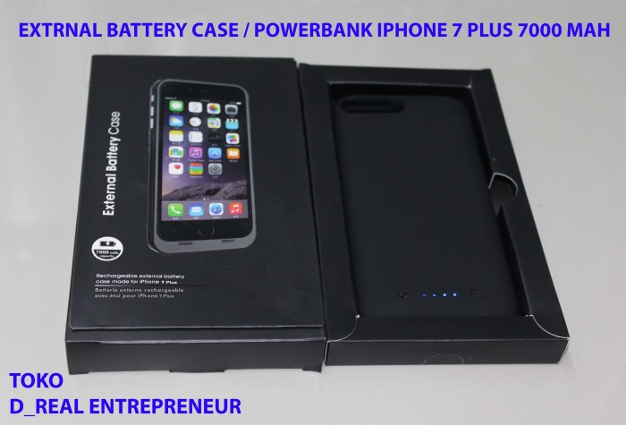 harga Power case/power bank/external battery-baterai iphone 7 + plus 5.5inch Tokopedia.com