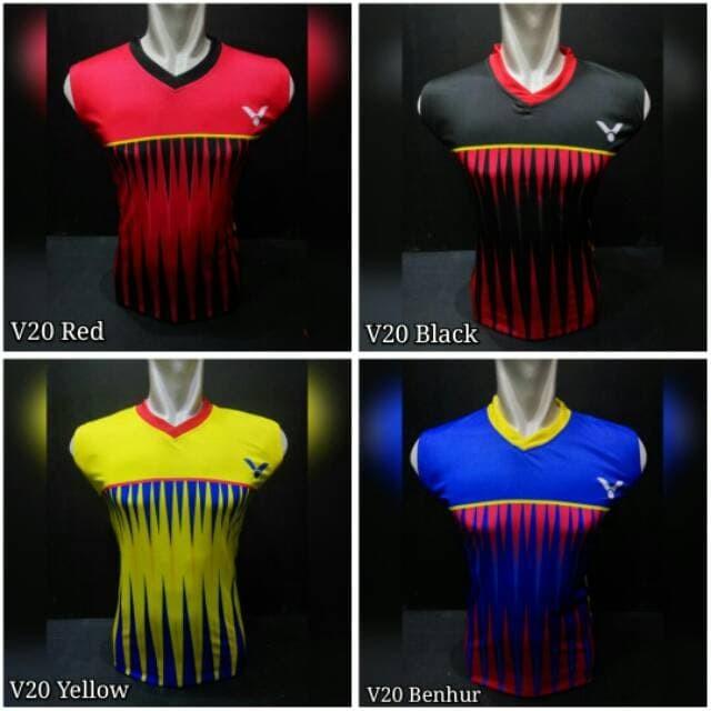 Jersey Baju Kaos Singlet Badminton / Bulutangkis LiNing Victor Yonex