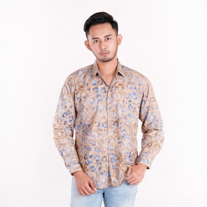 Batik pria tampan -  kemeja slimfit abs water cheetah spot - water m
