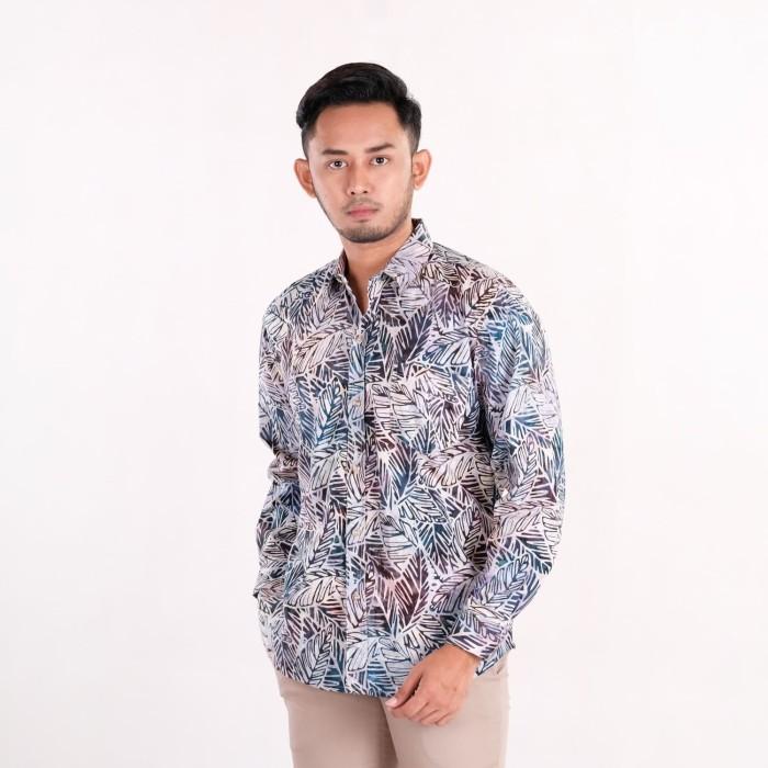 harga Batik pria tampan - kemeja slimfit abs a big leaves - perak m Tokopedia.com