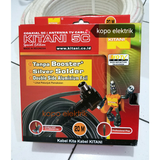 harga Kabel antena tv kitani 20m 20 meter high quality Tokopedia.com