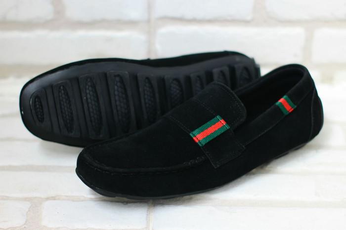 Harga Terbaru Sepatu Pria Slop Loafers Guci Gucci Pantofel Slip On ... 3c5bf4b89b