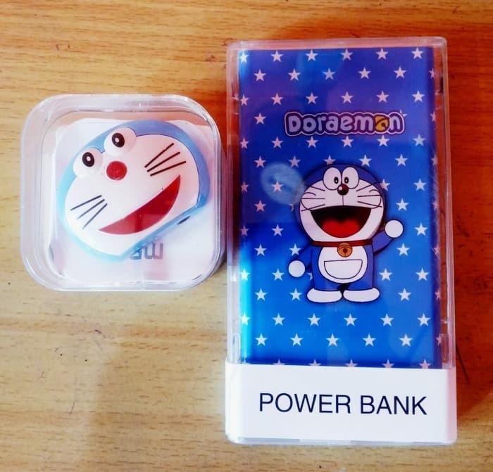 Paket Powerbank Karakter Doraemon 88000mah + MP3 Karakter