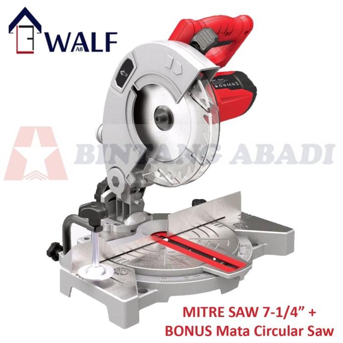 harga Walf laser mitre saw 7-1/4  (190 mm) / mesin gergaji duduk 900 watt Tokopedia.com