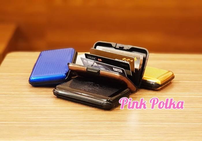 Foto Produk DOMPET KARTU / TEMPAT KARTU ALUMINIUM ALUMUNIUM ALUMA CARD HOLDER dari Pink Polka