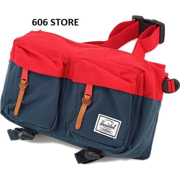 harga Herschel supply co. eighteen navy red hip pack - waist bag - original Tokopedia.com