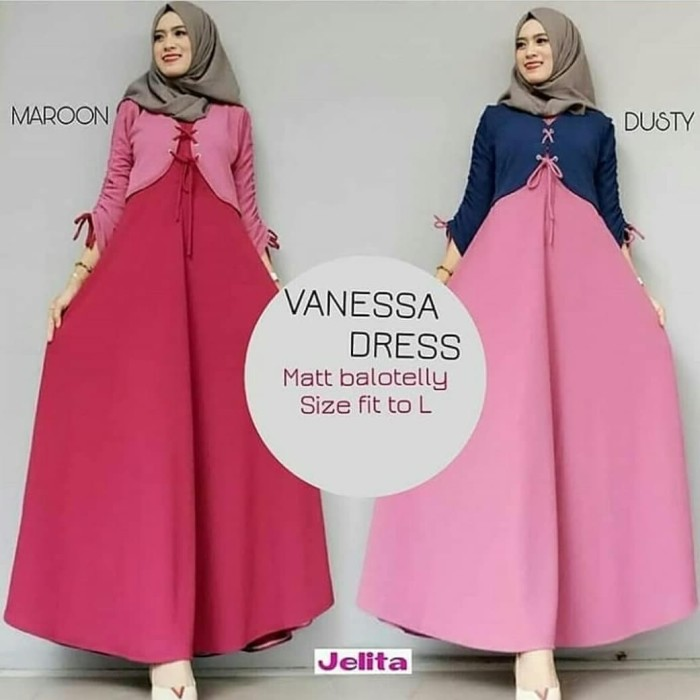 Jual Vanessa Dress   Hijab Fashion   Baju Modis   Baju Murah ... 92089b638a