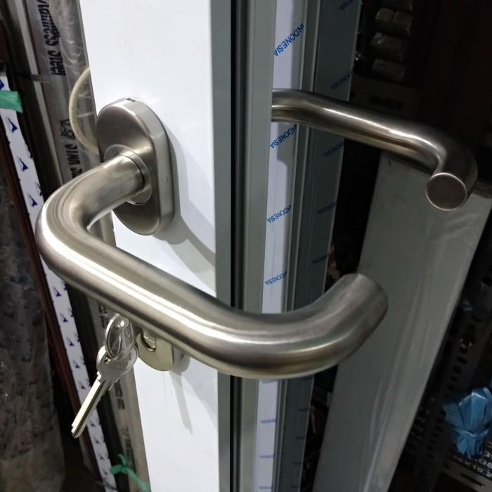 Jual 1 Set - Paket Handle & Kunci Pintu Aluminium ...