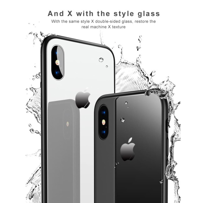 Glass Case Iphone XS Ultra Thin Luxury Casing Back Cover Kaca