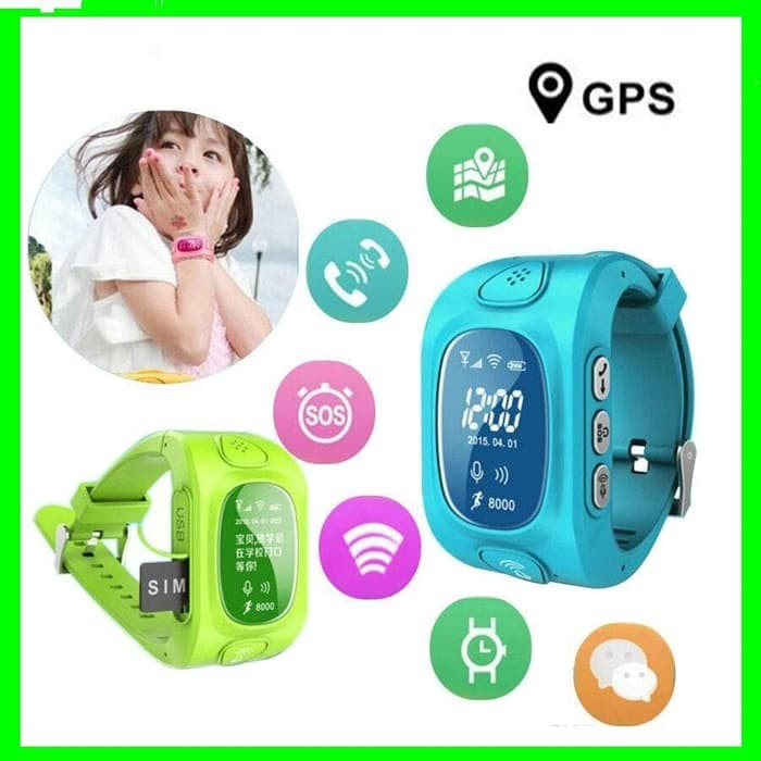 Jam Tangan Anak Anti Penculikan Hp Handphone Smartwatch for Android