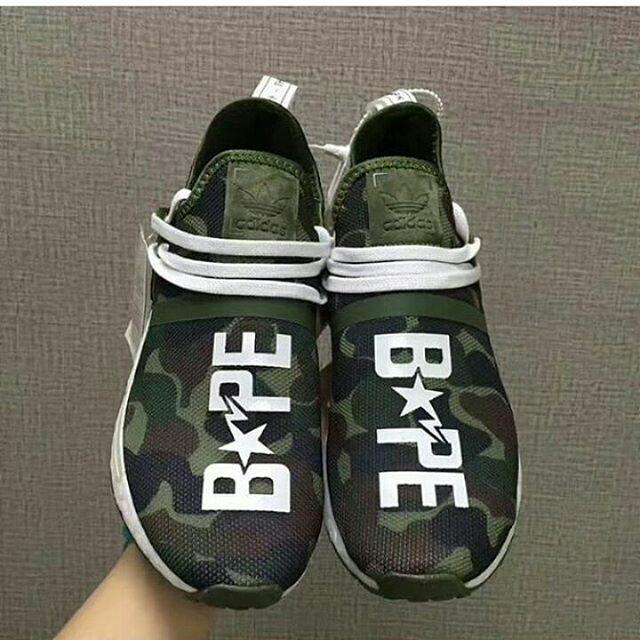 af56edec515a1 Jual Adidas Human Race Camo x Bape - ARMY