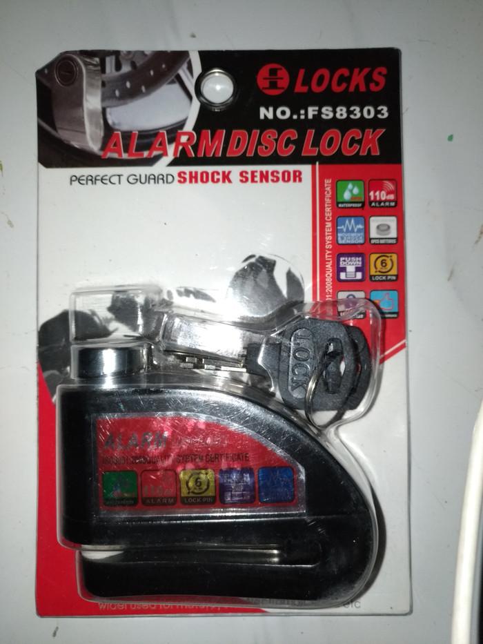 Gembok alarm disc brake motor cakram mantap - Hitam