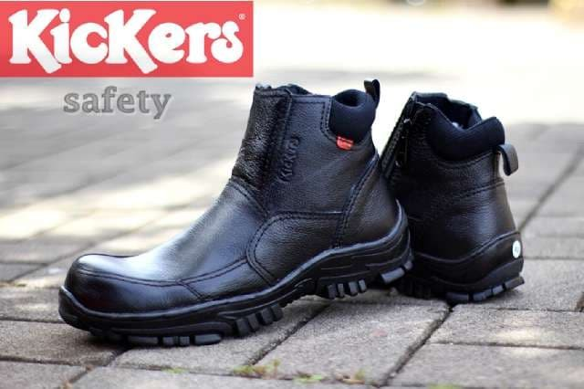 Jual SEPATU KICKERS BOOT SAFETY SHOES ZIPPER KULIT HITAM   COKLAT ... 97e9bfdb95