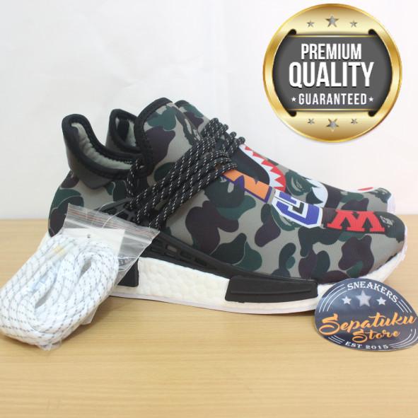 new styles 8d2e4 6f10c Sepatu Adidas NMD Human Race x Pharrell Williams X Bape WGM