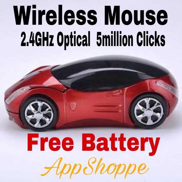 Foto Produk Mouse Wireless Mobil 2.4Ghz Car Shape Mouse Mac Windows 7-10 dari AppShoppe