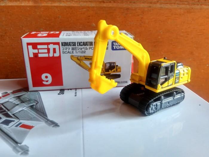 harga Tomica no 9 komatsu excavator pc200-10 miniatur alat berat takara tomy Tokopedia.com