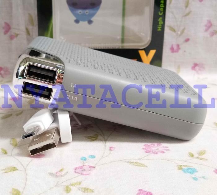 Powerbank Hippo Bronz X 7500mAh Simpe Pack/Power Bank 7500 mAh SP - Putih