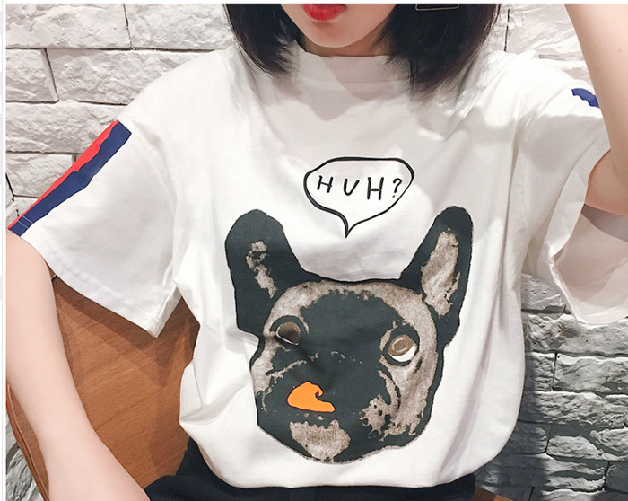 harga Kaos t shirt tees french bulldog dog anjing blouse putih oversized Tokopedia.com