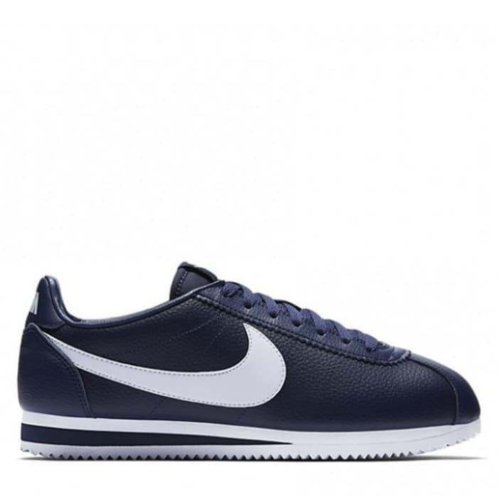 Jual Sepatu Nike Classic Cortez Leather Original - Midnight Navy ... 7947170c8b