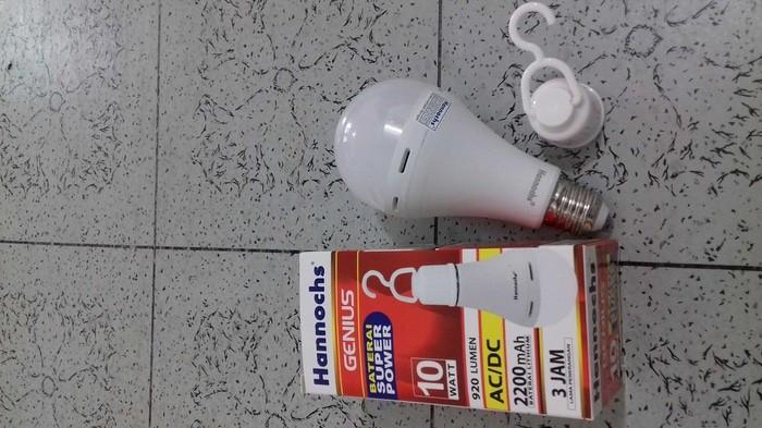 Lampu led emergency hannoch genius 10w 3 jam