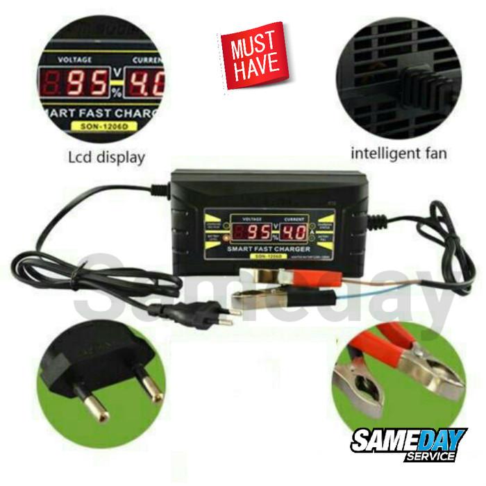 harga Smart fast charger accu battery 12v 6a cas aki mobil motor Tokopedia.com