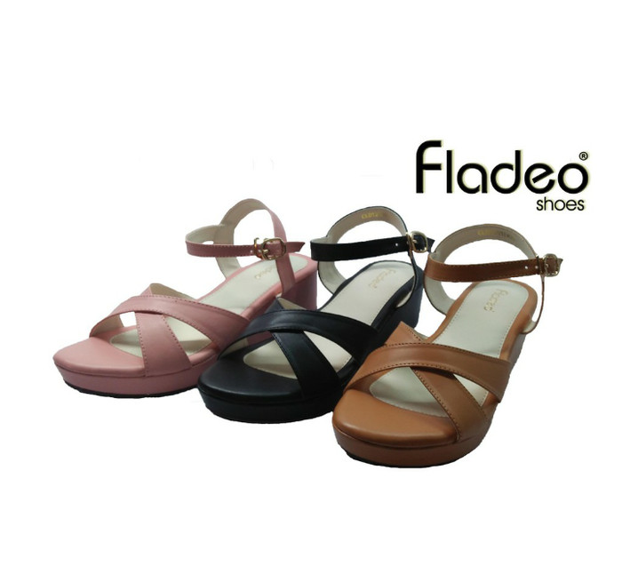 Jual sp fladeo sandal wedges wanita - MeltryShop  85f16e3663