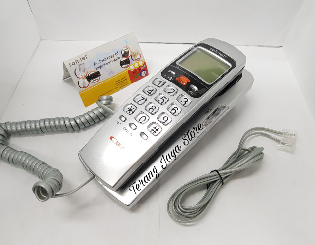 harga Telepon kabel sahitel s37 pesawat telepon rumah sahitel s-37 (silver) Tokopedia.com