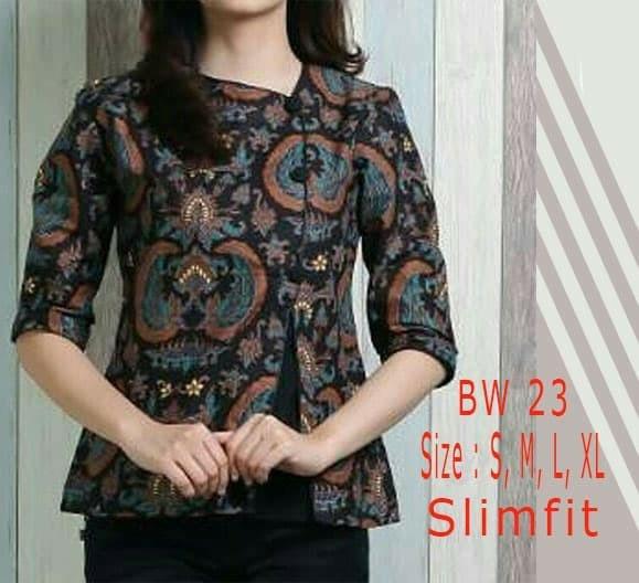 Jual Blouse Batik Wanita Modern Baju Batik Wanita Bw23 Jakarta Barat Lina Batik Distro Tokopedia