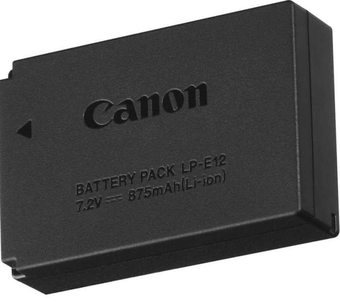 harga Canon lp-e12 battery baterai kamera m10 eos m 100d m2 rebel Tokopedia.com