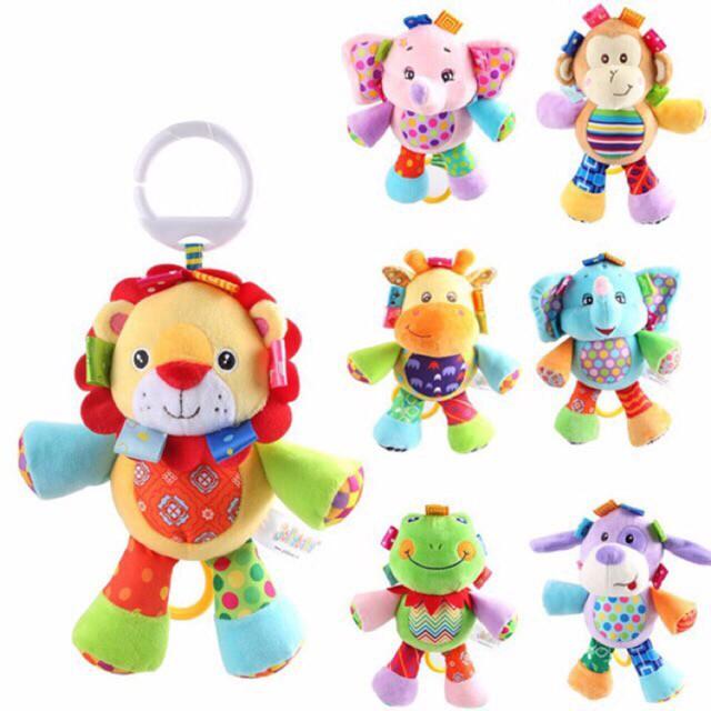 Jollybaby boneka musik baby doll music musical tarik lion elephant dog