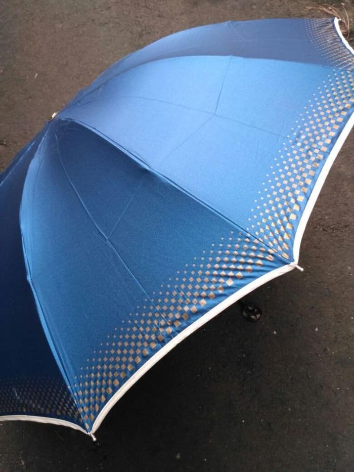Payung cantik dan bagus metalik lipat 3 10 jari merk nagoya original