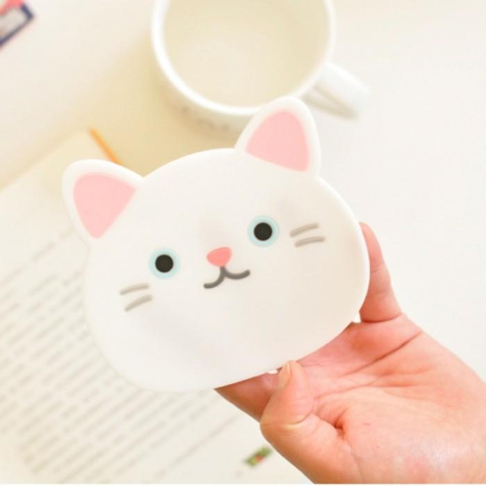 Jual Jual 1 Pc Silikon Meja Makan Tatakan Coaster Kartun Kucing