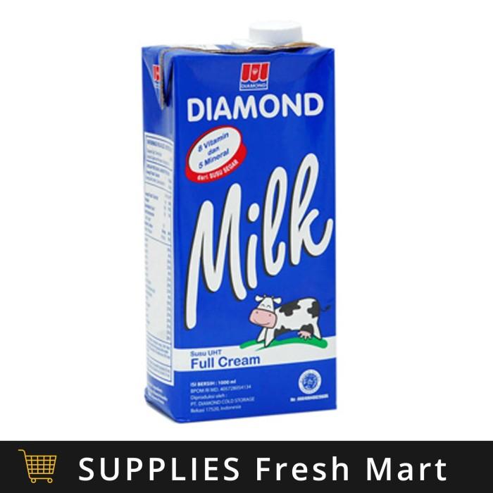 Jual Susu Uht Diamond Full Cream 1l Promo 1 Liter Supplies Tokopedia