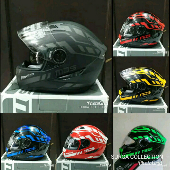 harga Helm mds provent seri 1 black doff red maroon green blue yellow Tokopedia.com