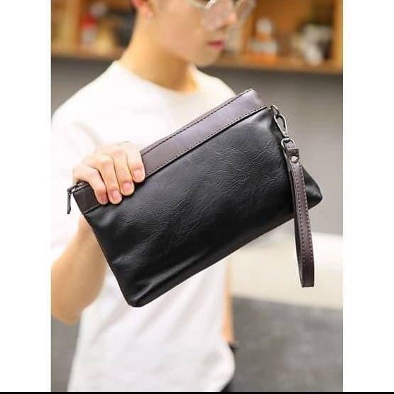 Jual handbag kulit waterproof hand bag clucth tas dompet tangan pria ... 3186424fae