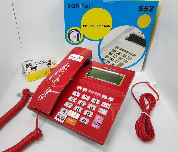 harga Cable phone sahitel s52 telepon kabel rumah (red) Tokopedia.com