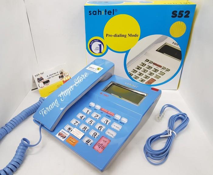 harga Cable phone sahitel s52 telepon kabel rumah (blue) Tokopedia.com