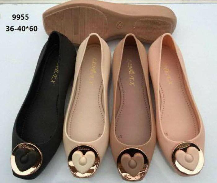 Sepatu Jelly Shoes Premium Circle Love - Sepatu karet - Diskon