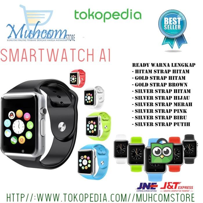 harga Smart watch a1 camera + sim phone + memori card jam tangan hp murah Tokopedia.com