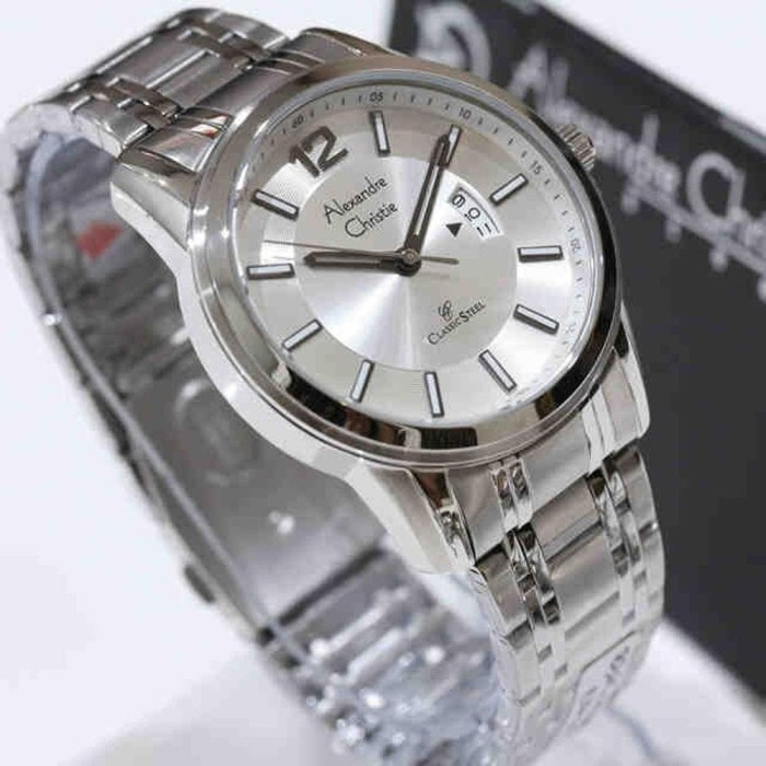 Jam Tangan Pria Alexandre Christie 8325 silver Limited