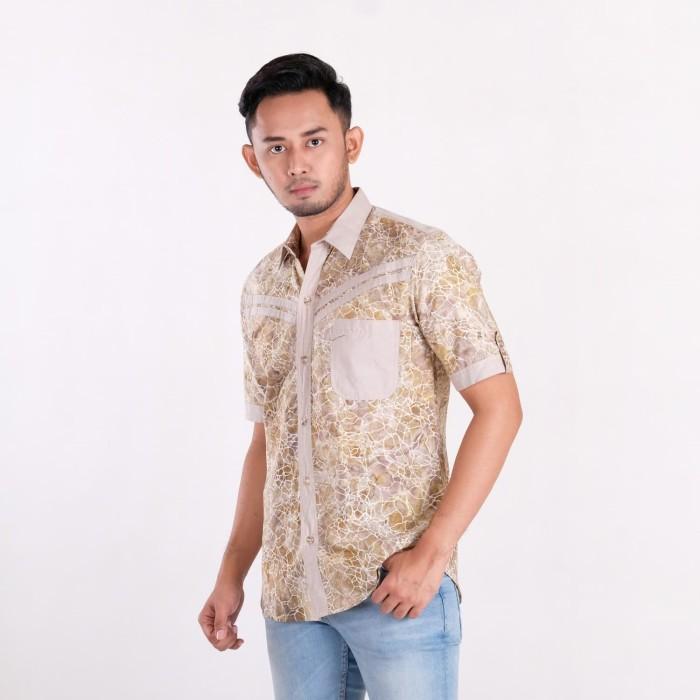 harga Batik pria tampan -  kemeja slimfit kombinasi stone hair vein marble - stone xxl Tokopedia.com