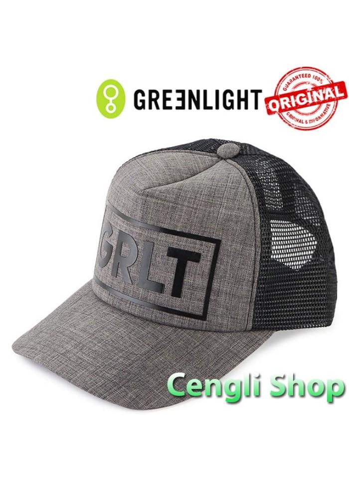 Topi GREENLIGHT Original Terbaru Trucker Jaring 04GR Abu Abu