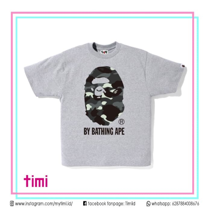 9edfd4f1 Kaos A Bathing Ape Bape City Camo Big Ape Head Tee Original T-shirt - Abu  -abu Tua, M