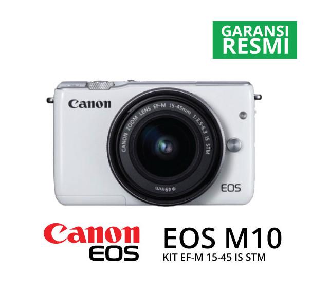harga Canon eos m10 kit ef-m15-45mm white Tokopedia.com