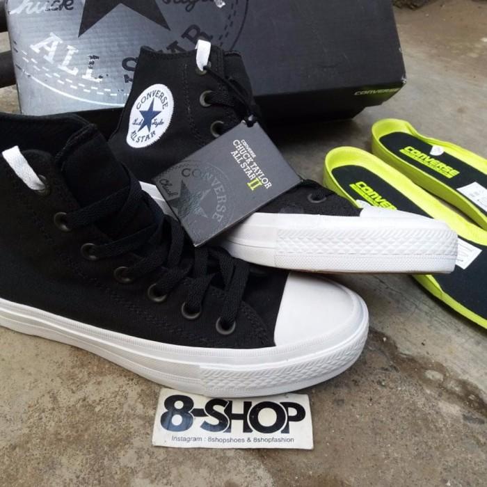 b054080a3364 Jual Converse Chuck Taylor II high black white BEST SHOES - Kota ...