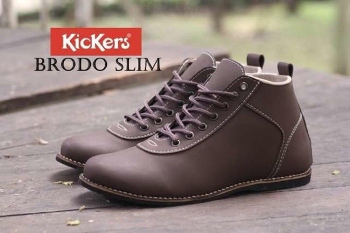 Jual Sepatu Sneakers Casual Pria Kickers Brodo Slim - Hitam 9bcee1c198